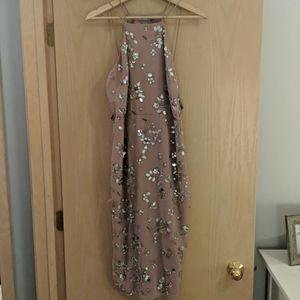 Asos Beaded Cocktail Dress - Mauve Size US 6